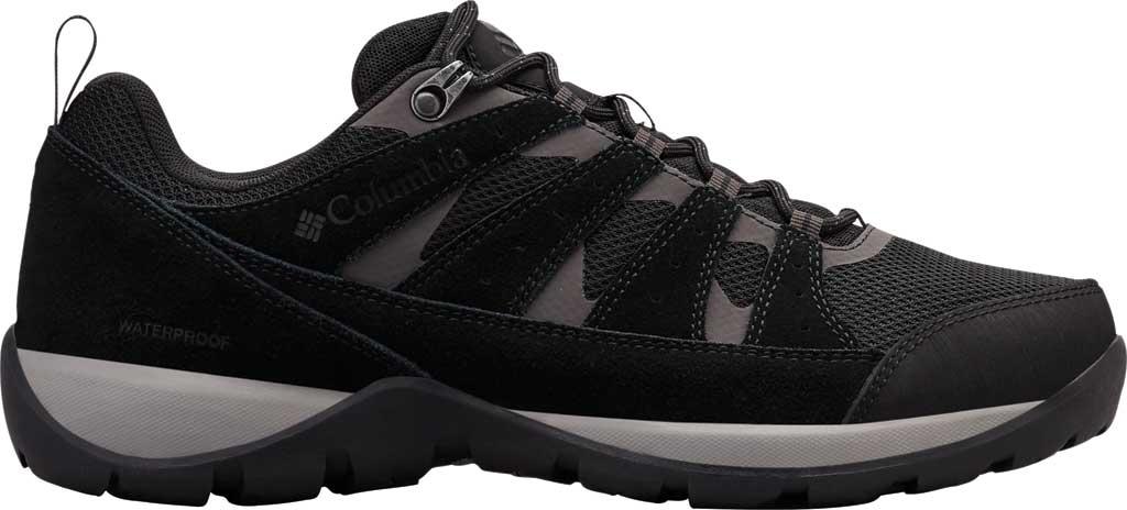 Men's Columbia Redmond V2 Waterproof Hiking Shoe, Black/Dark Grey, large, image 2