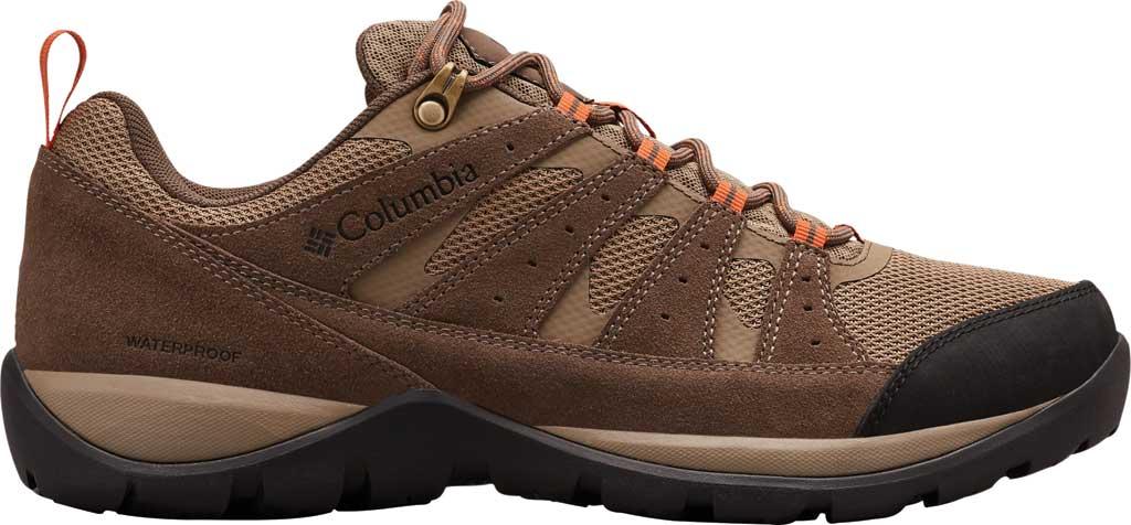 Men's Columbia Redmond V2 Waterproof Hiking Shoe, Pebble/Desert Sun, large, image 2