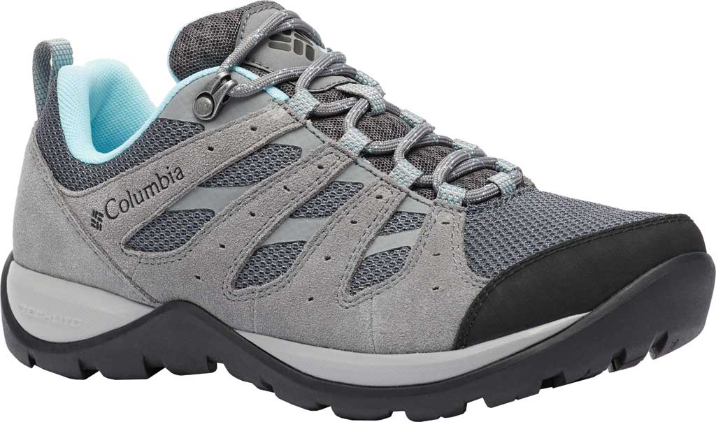 Women's Columbia Redmond V2 Hiking Shoe, Graphite/Blue Oasis, large, image 1