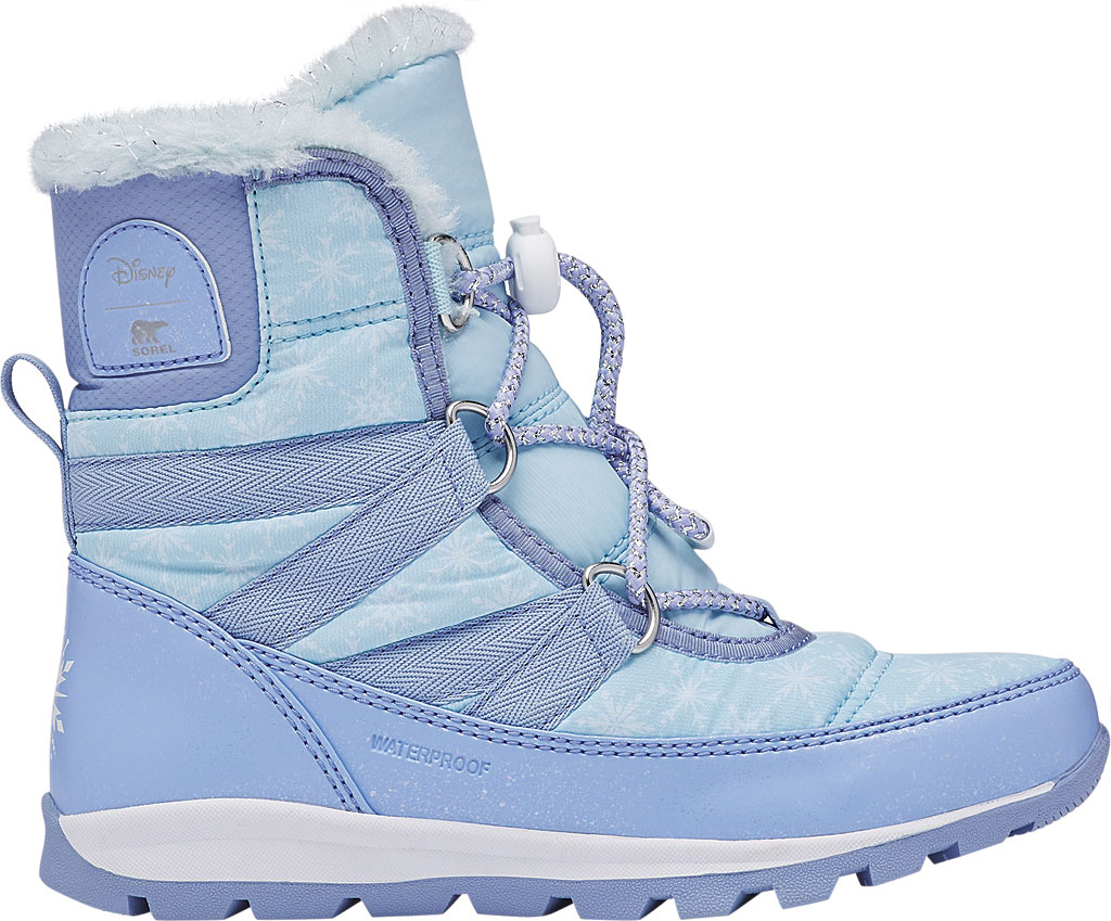 Children's Sorel Disney x Sorel Whitney Short Lace Elsa Boot-Big K, Frosted Purple/Pure Silver Nylon, large, image 2