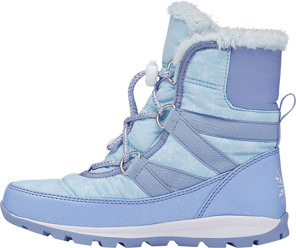 Children's Sorel Disney x Sorel Whitney Short Lace Elsa Boot-Big K, Frosted Purple/Pure Silver Nylon, large, image 3