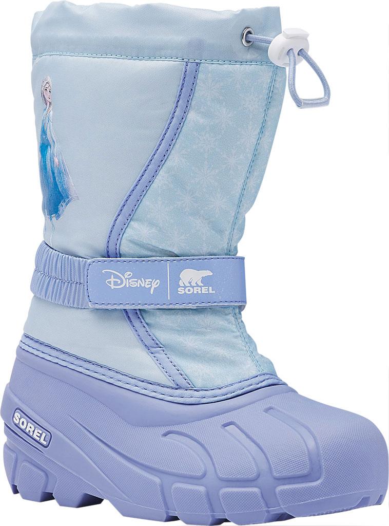Children's Sorel Disney x Sorel Flurry Frozen Elsa- Big Kid, Frosted Purple Textile, large, image 1