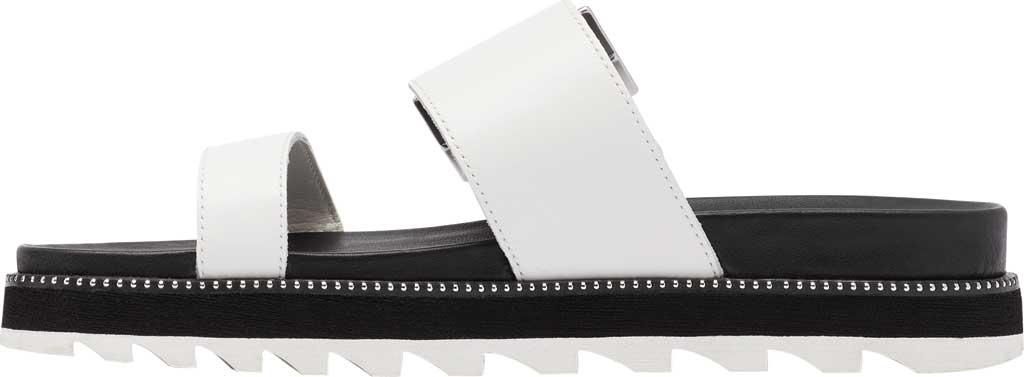 Women's Sorel Roaming Buckle Slide, Sea Salt Full Grain Leather 2, large, image 3