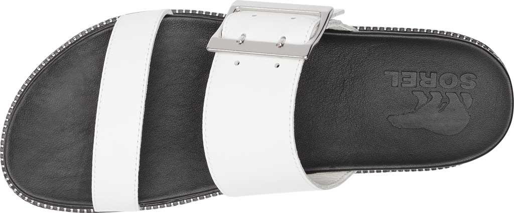 Women's Sorel Roaming Buckle Slide, Sea Salt Full Grain Leather 2, large, image 5