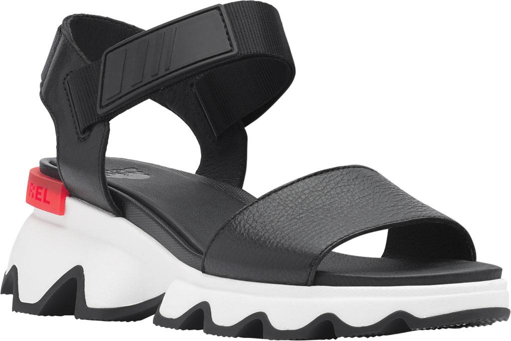 Women's Sorel Kinetic Active Sandal, Black Full Grain Leather/Textile, large, image 1