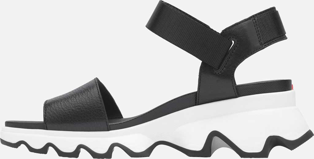 Women's Sorel Kinetic Active Sandal, Black Full Grain Leather/Textile, large, image 3