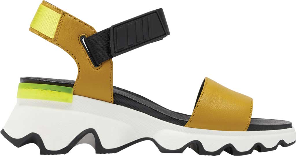 Women's Sorel Kinetic Active Sandal, Dioxide Gold Full Grain Leather/Textile, large, image 2
