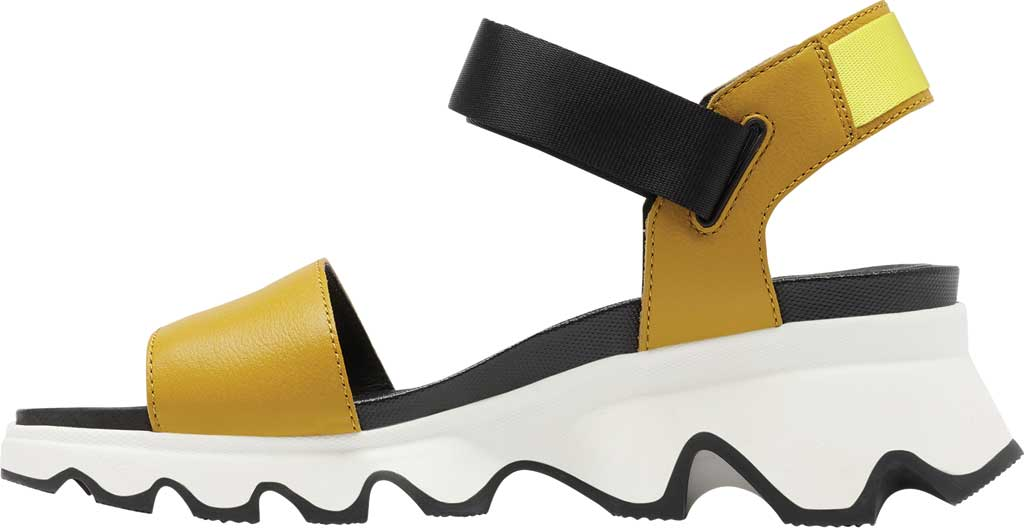 Women's Sorel Kinetic Active Sandal, Dioxide Gold Full Grain Leather/Textile, large, image 3