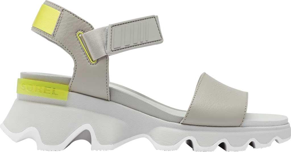 Women's Sorel Kinetic Active Sandal, Dove/Dove Full Grain Leather/Textile, large, image 2