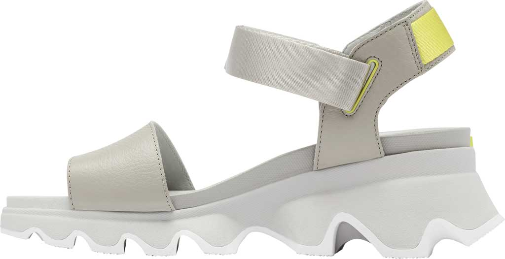 Women's Sorel Kinetic Active Sandal, Dove/Dove Full Grain Leather/Textile, large, image 3