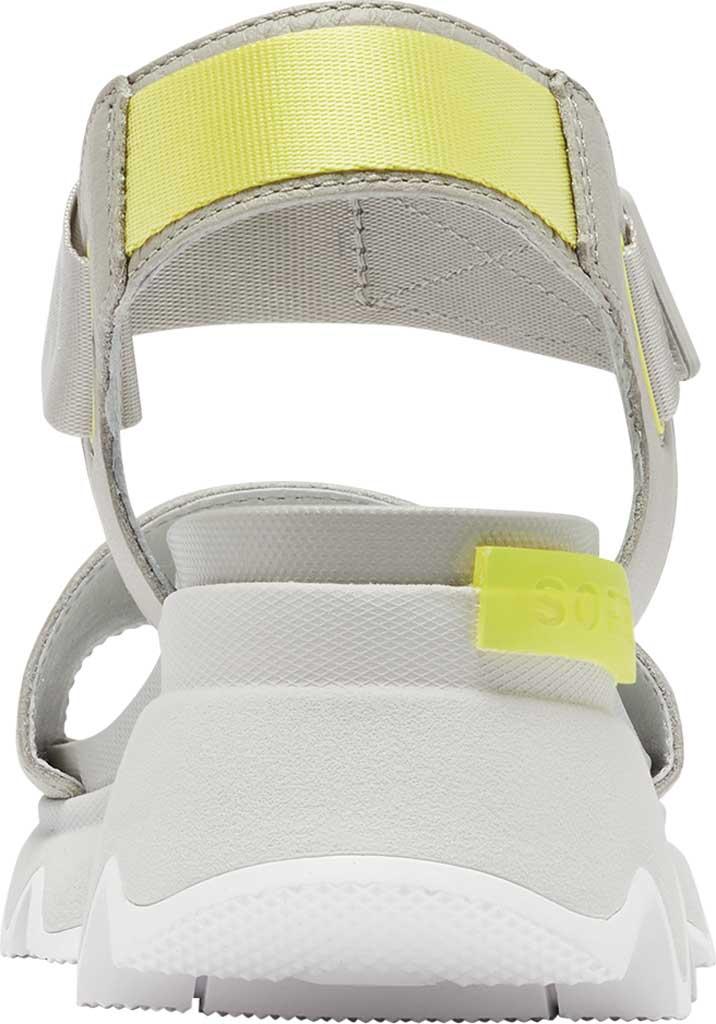 Women's Sorel Kinetic Active Sandal, Dove/Dove Full Grain Leather/Textile, large, image 4