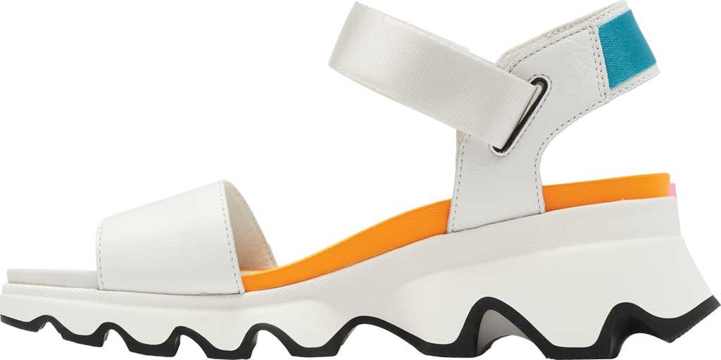 Women's Sorel Kinetic Active Sandal, Sea Salt/Pink Full Grain Leather/Textile, large, image 3