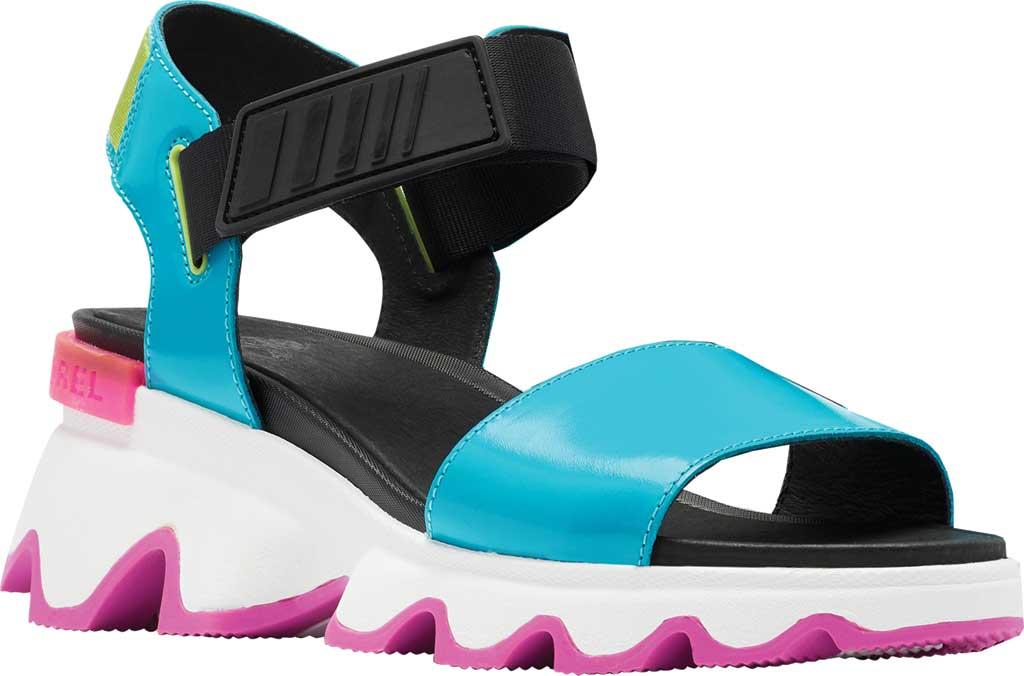 Women's Sorel Kinetic Active Sandal, Spring Aqua Full Grain Leather/Textile, large, image 1