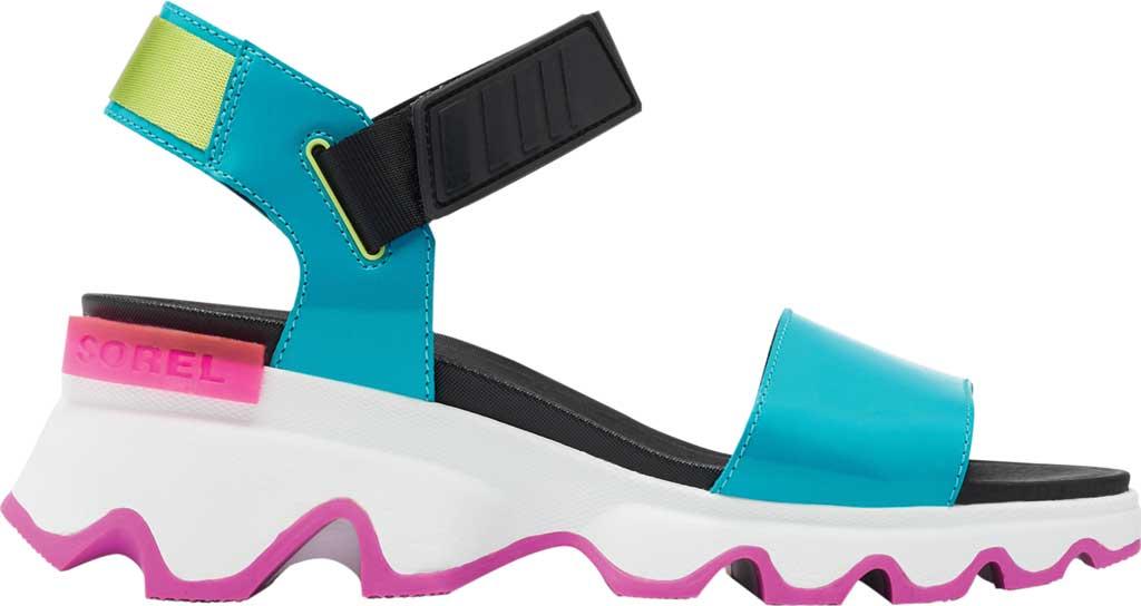 Women's Sorel Kinetic Active Sandal, Spring Aqua Full Grain Leather/Textile, large, image 2