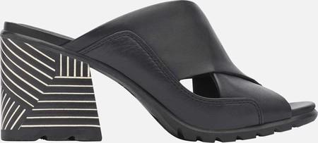 Women's Sorel Nadia Slide, Black Full Grain Leather, large, image 2