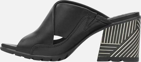 Women's Sorel Nadia Slide, Black Full Grain Leather, large, image 3
