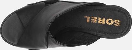 Women's Sorel Nadia Slide, Black Full Grain Leather, large, image 5