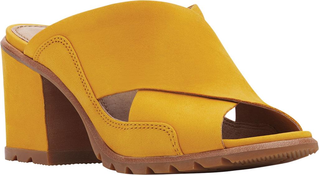 Women's Sorel Nadia Slide, Golden Yellow Nubuck, large, image 1