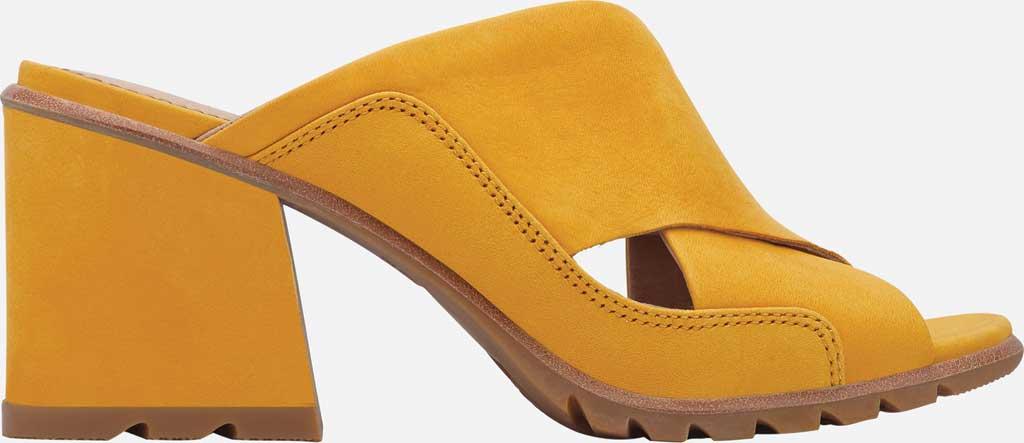 Women's Sorel Nadia Slide, Golden Yellow Nubuck, large, image 2