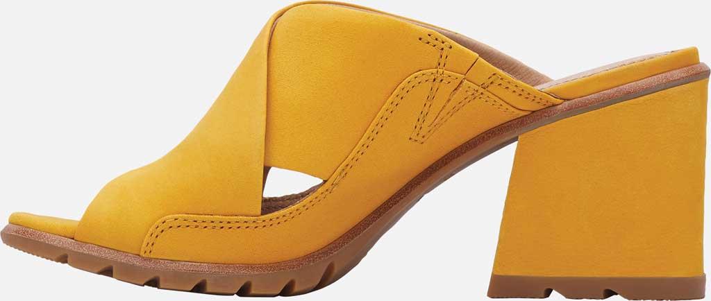 Women's Sorel Nadia Slide, Golden Yellow Nubuck, large, image 3