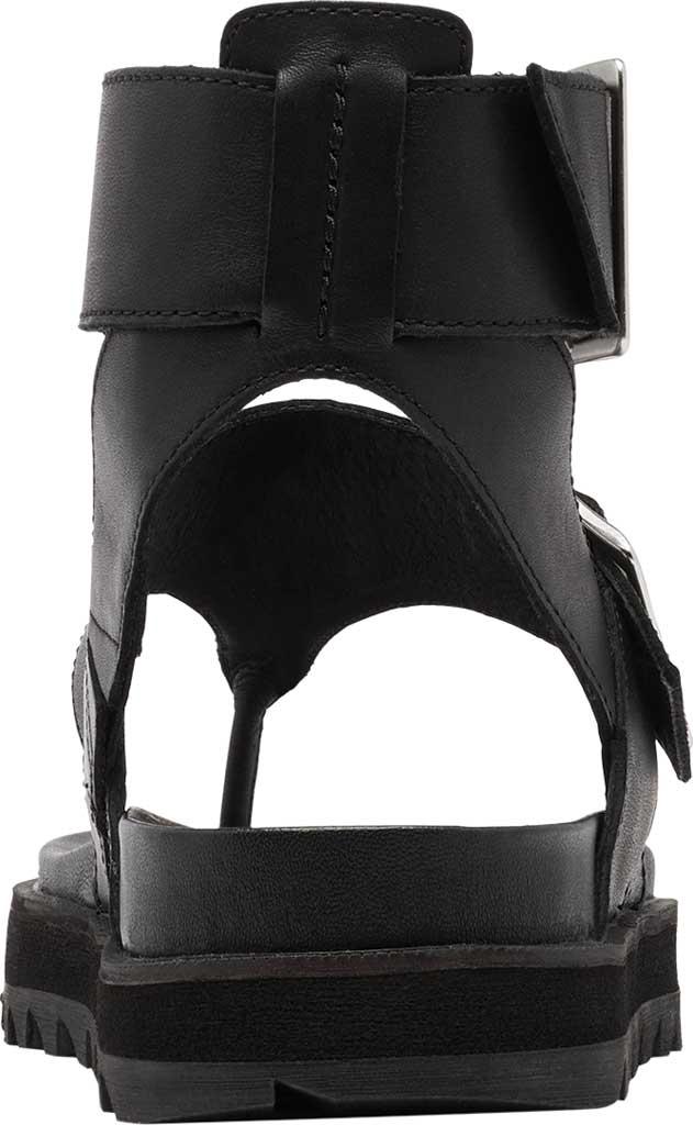 Women's Sorel Roaming Thong Sandal, Black/Black Full Grain Leather, large, image 4
