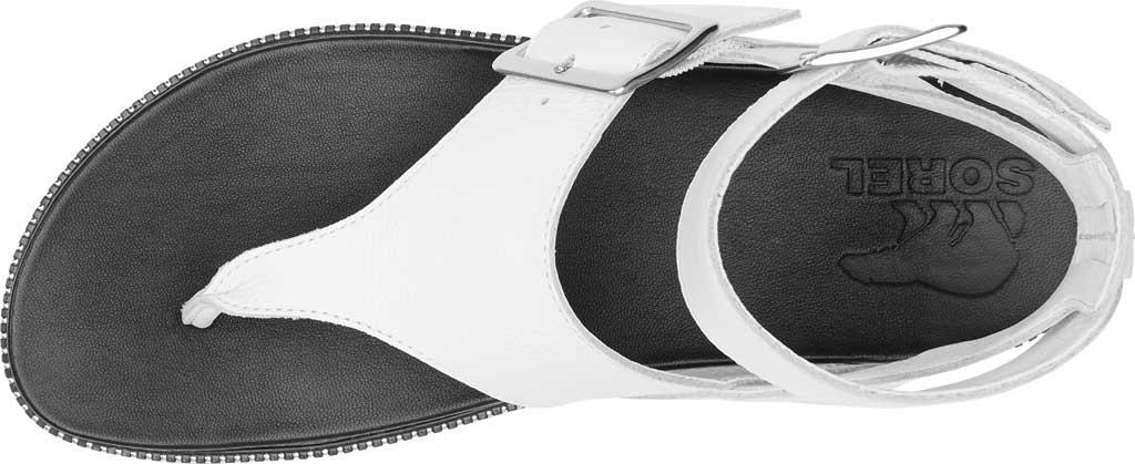Women's Sorel Roaming Thong Sandal, Sea Salt/Studded Full Grain Leather, large, image 5