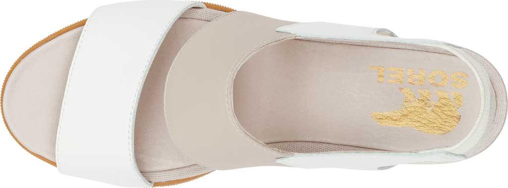 Women's Sorel Joanie II Wedge Heeled Slingback, Sea Salt/Chalk Full Grain Leather, large, image 5