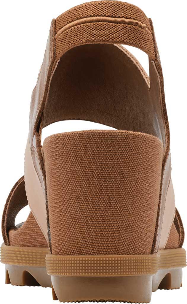 Women's Sorel Joanie II Wedge Heeled Slingback, Velvet Tan Full Grain Leather/Suede, large, image 4