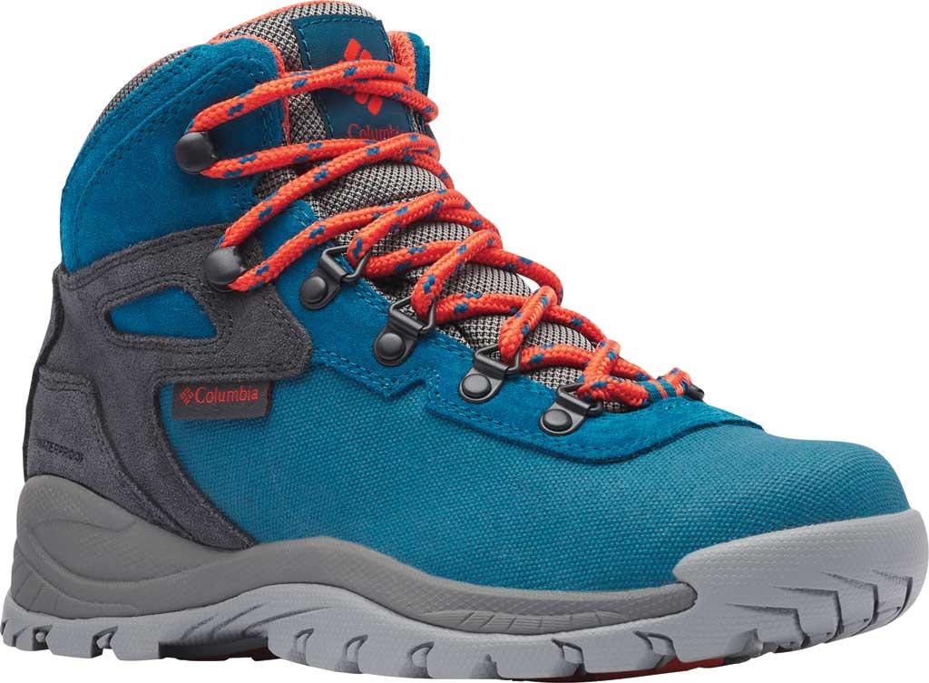 Women's Columbia Newton Ridge LT Waterproof Boot, Dark Turquoise/Zing, large, image 1