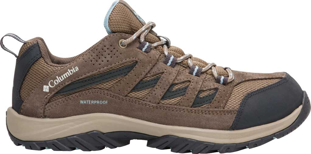 Women's Columbia Crestwood Waterproof Hiking Shoe, Pebble/Oxygen, large, image 1