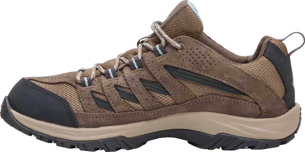 Women's Columbia Crestwood Waterproof Hiking Shoe, Pebble/Oxygen, large, image 2