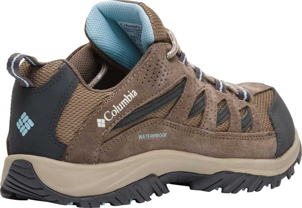 Women's Columbia Crestwood Waterproof Hiking Shoe, Pebble/Oxygen, large, image 3