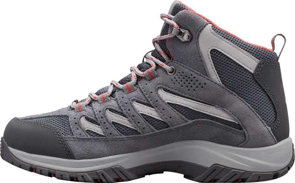 Women's Columbia Crestwood Mid Waterproof Hiking Boot, Graphite/Daredevil, large, image 3