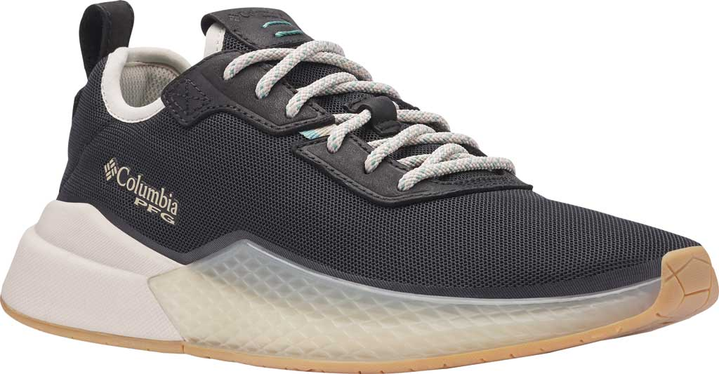 Women's Columbia Low Drag PFG Sneaker, Black/Copper Ore, large, image 1