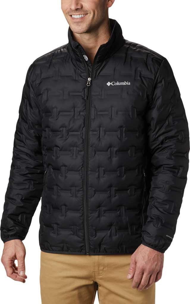 Men's Columbia Delta Ridge Down Jacket, Black, large, image 1