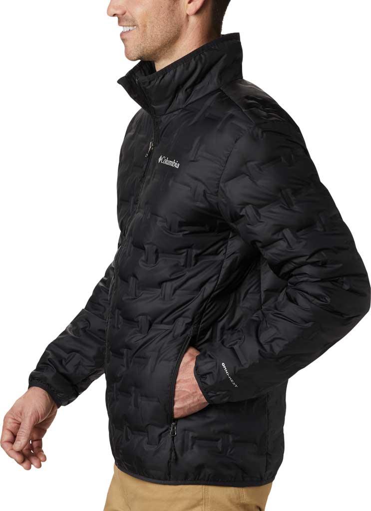 Men's Columbia Delta Ridge Down Jacket, Black, large, image 3