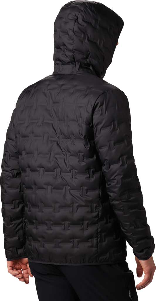 Men's Columbia Delta Ridge Down Hooded Winter Jacket, Black, large, image 2