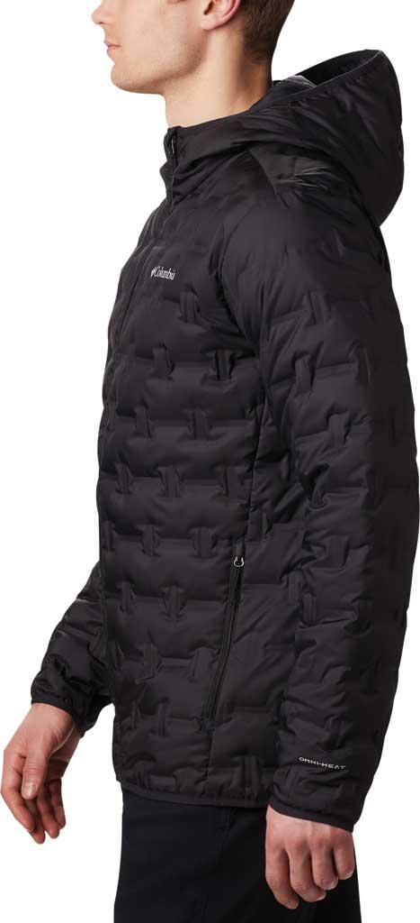 Men's Columbia Delta Ridge Down Hooded Winter Jacket, Black, large, image 3