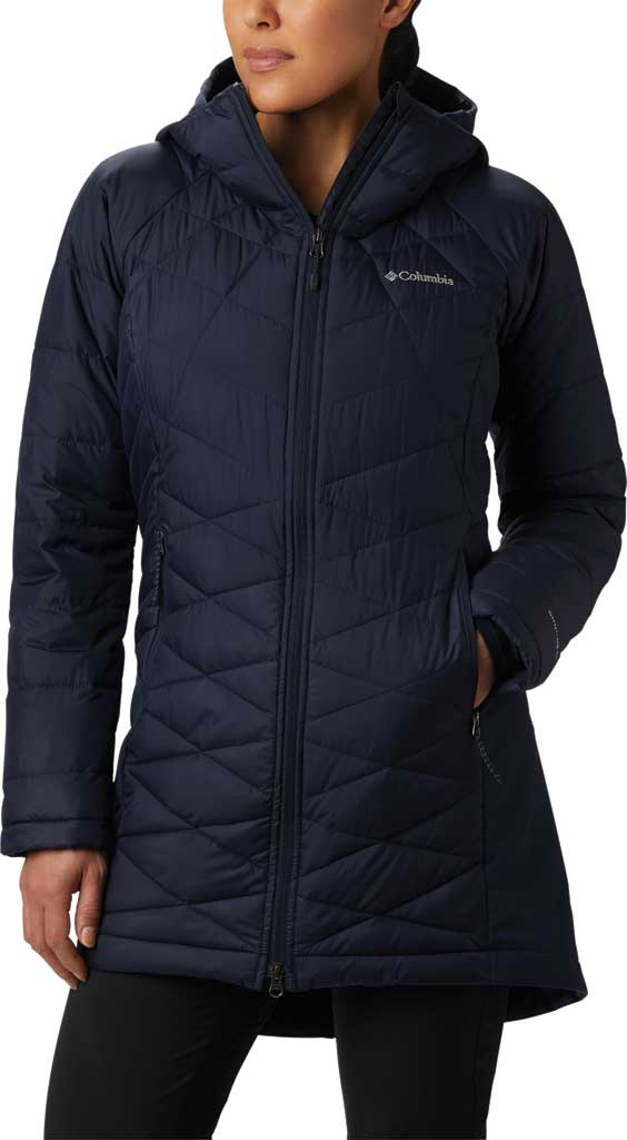 Women's Columbia Heavenly Long Hybrid Jacket, Dark Nocturnal, large, image 1