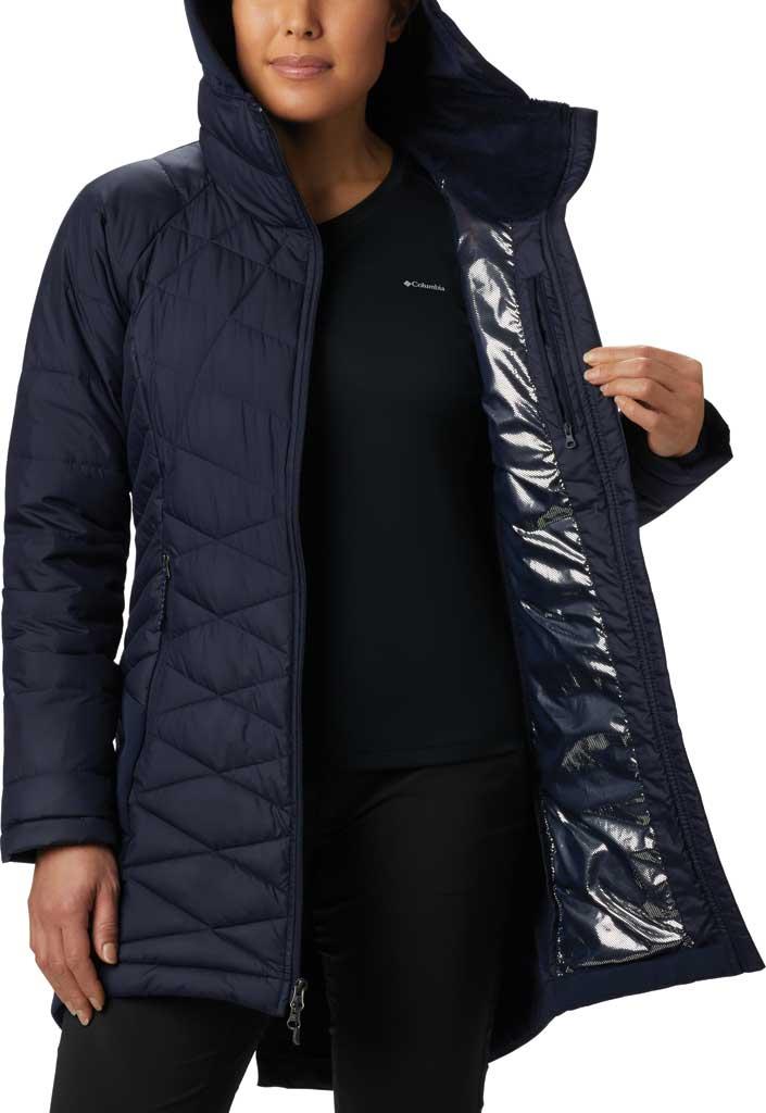 Women's Columbia Heavenly Long Hybrid Jacket, Dark Nocturnal, large, image 3