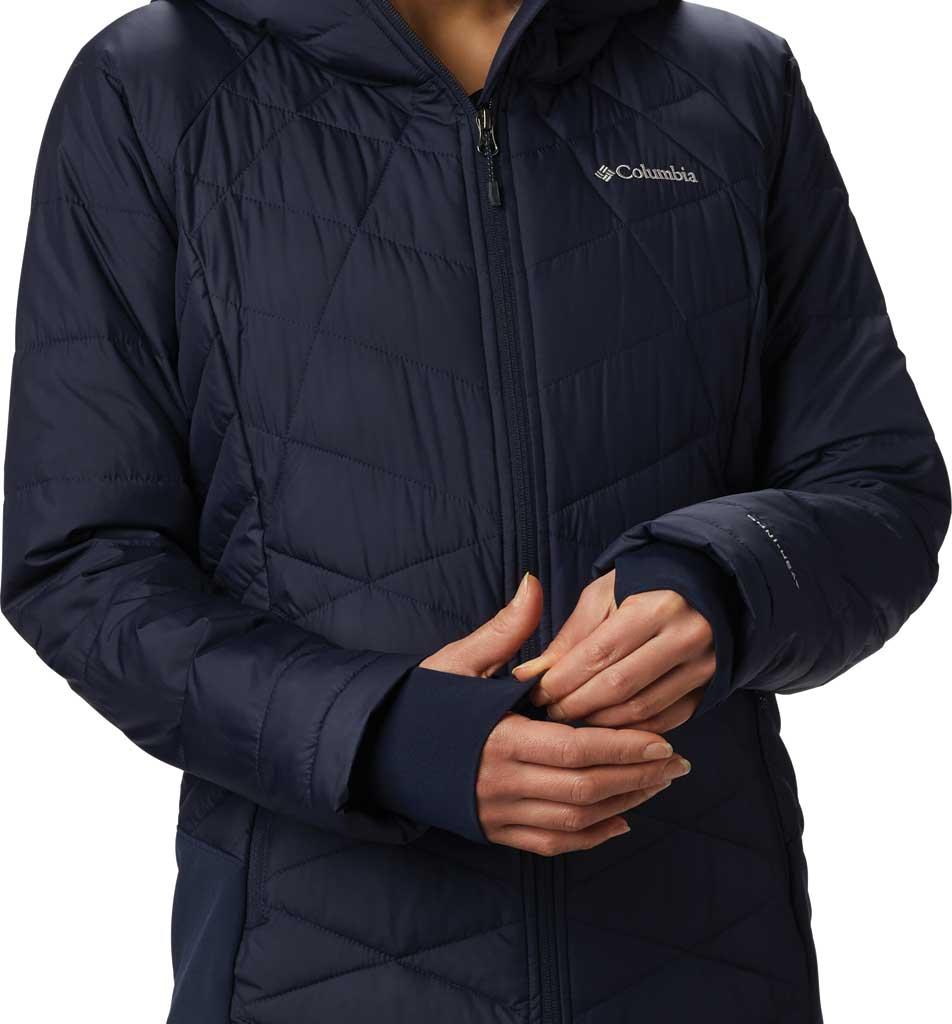 Women's Columbia Heavenly Long Hybrid Jacket, Dark Nocturnal, large, image 4