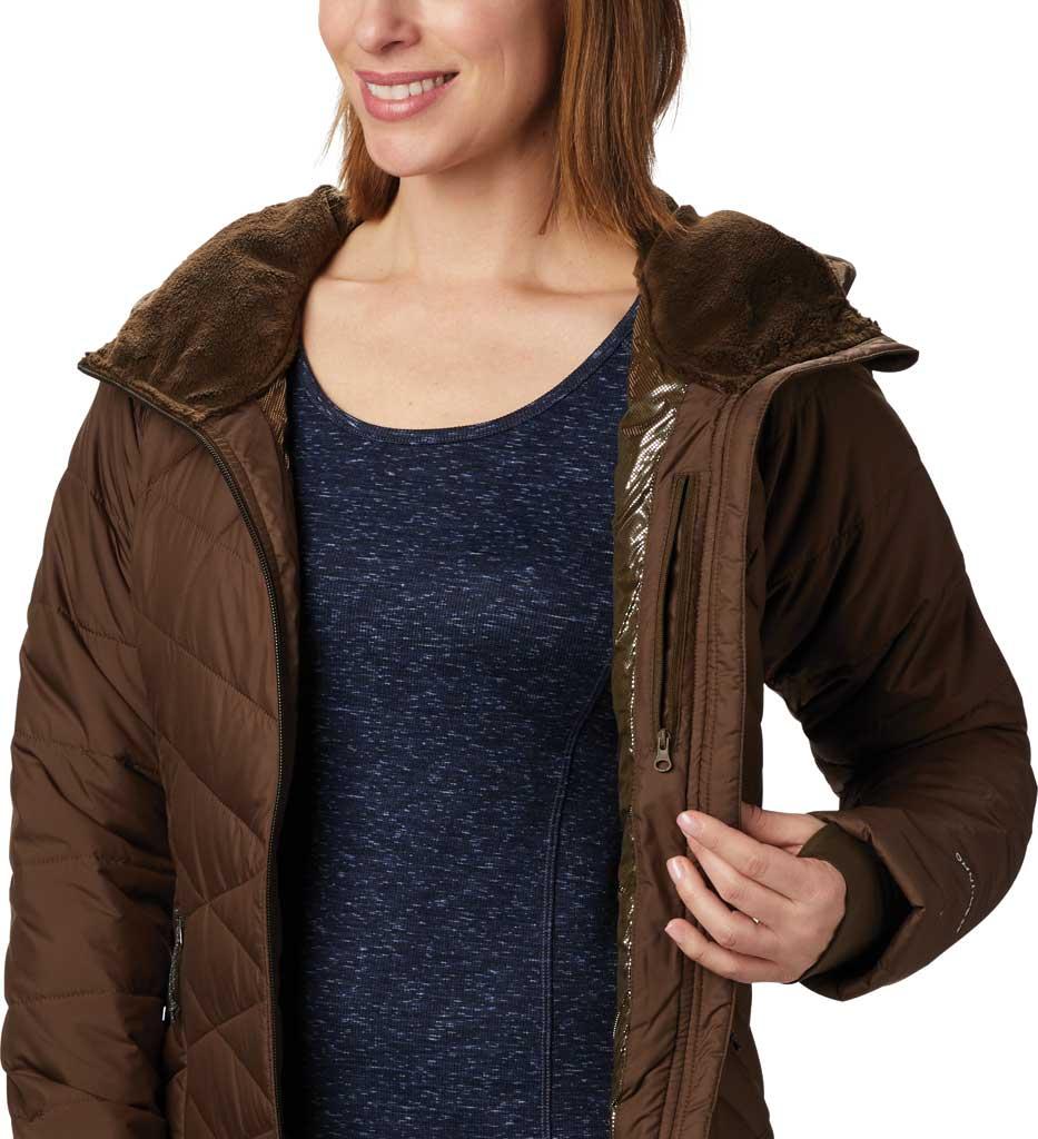 Women's Columbia Heavenly Long Hybrid Jacket, Olive Green, large, image 3