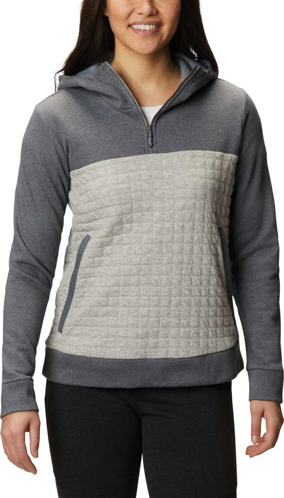 Women's Columbia Sunday Summit Hooded Pullover, Grey Ash Heather, large, image 1