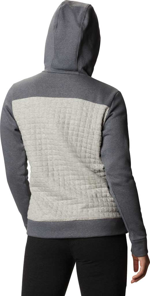 Women's Columbia Sunday Summit Hooded Pullover, Grey Ash Heather, large, image 2