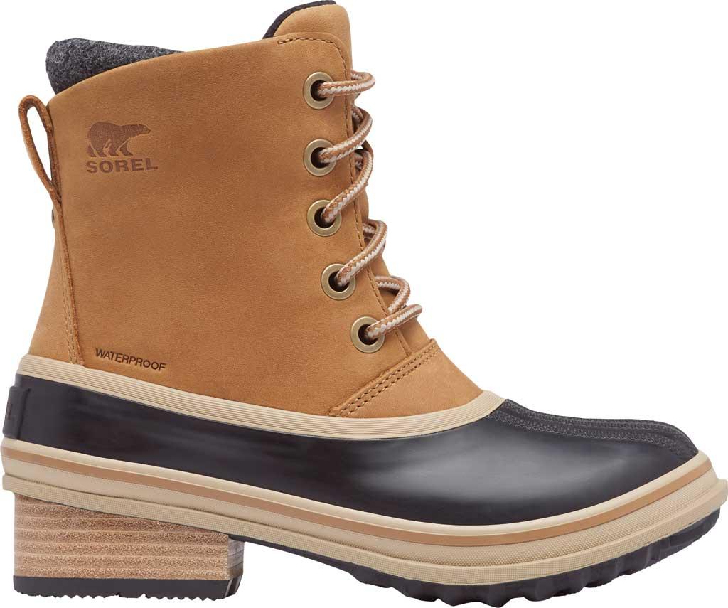 Women's Sorel Slimpack III Lace Waterproof Duck Boot, Elk Waterproof Full Grain Leather/Wool, large, image 2