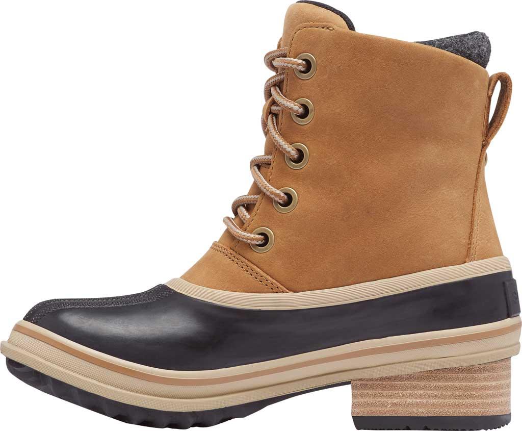 Women's Sorel Slimpack III Lace Waterproof Duck Boot, Elk Waterproof Full Grain Leather/Wool, large, image 3
