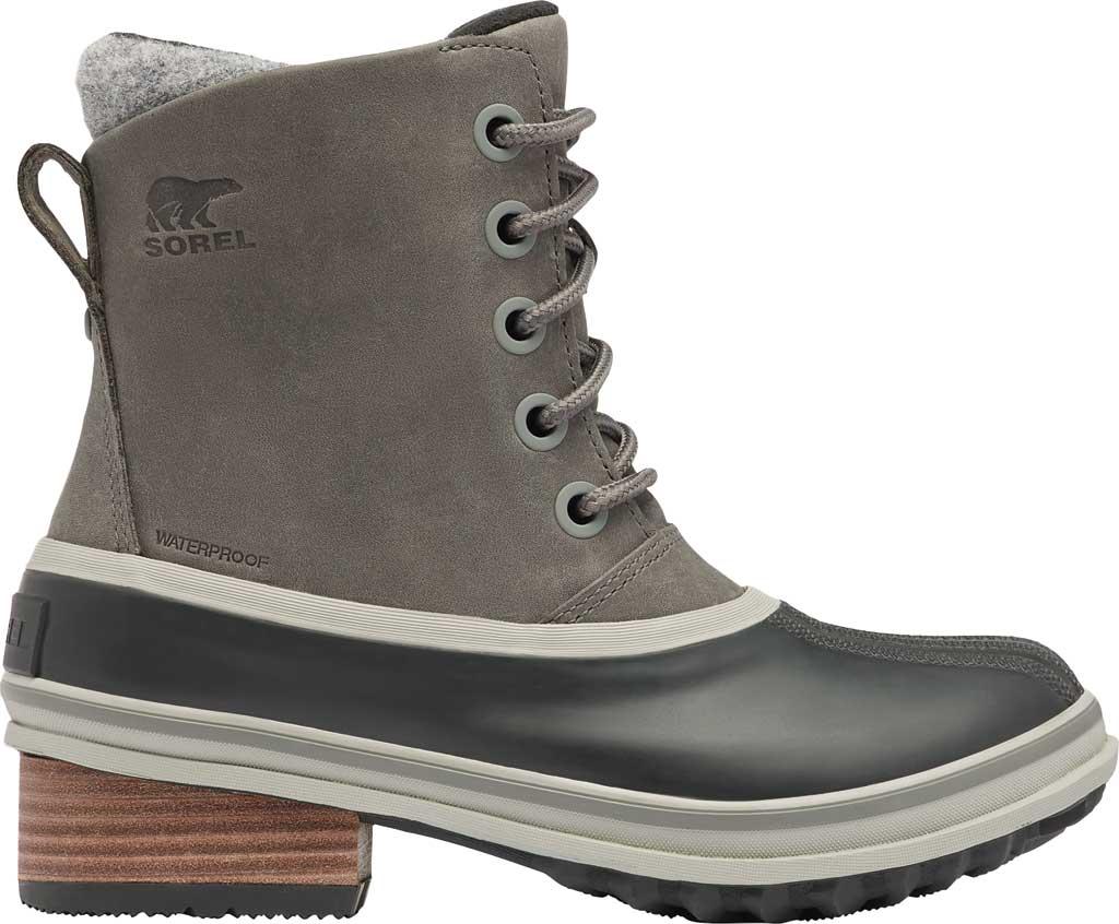 Women's Sorel Slimpack III Lace Waterproof Duck Boot, Quarry Waterproof Full Grain Leather/Wool, large, image 2