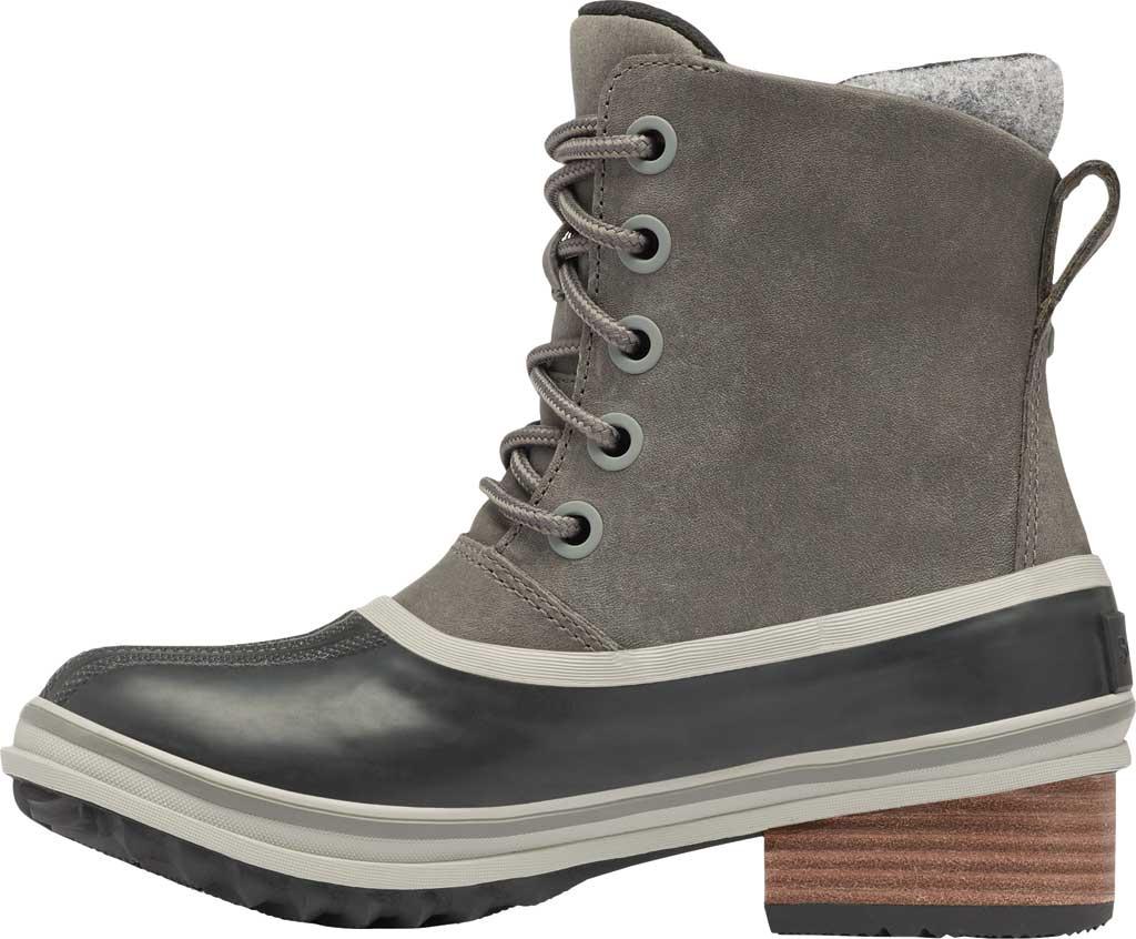 Women's Sorel Slimpack III Lace Waterproof Duck Boot, Quarry Waterproof Full Grain Leather/Wool, large, image 3