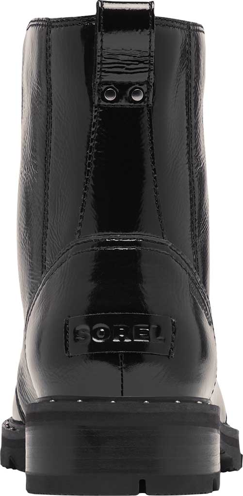 Women's Sorel Lennox Lace Cozy Waterproof Boot, Black Waterproof Patent Leather/Shearling, large, image 4