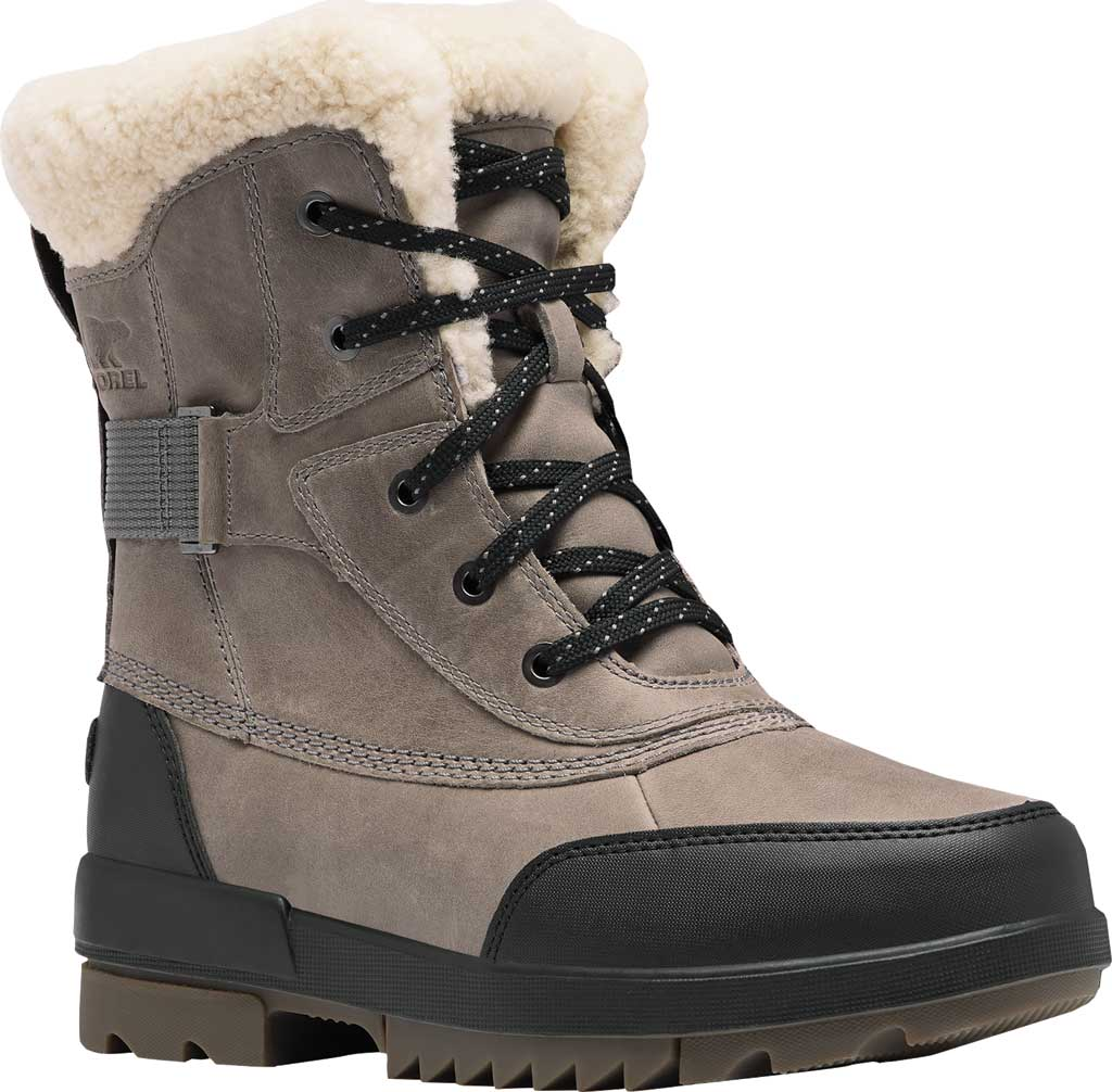 Women's Sorel Tivoli IV Parc Waterproof Boot, Quarry Waterproof Full Grain Leather/Shearling, large, image 1